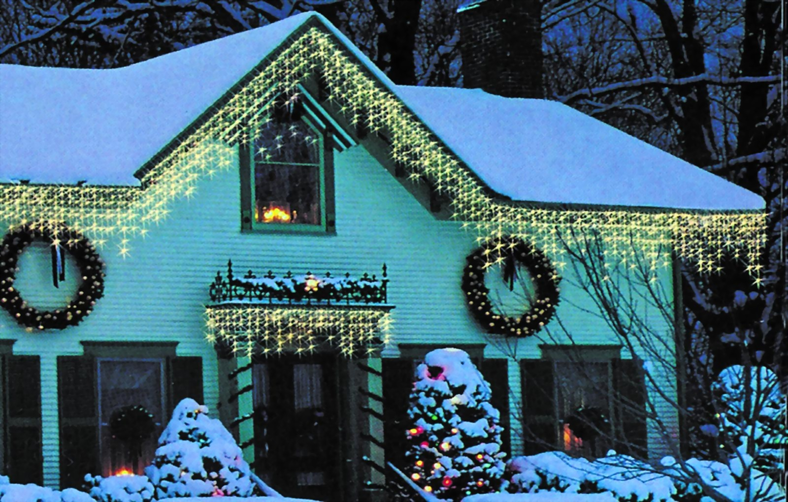 Lichtervorhang mit 150 l mpchen lichtvorhang for Lichtervorhang weihnachten