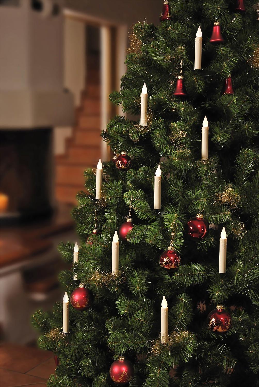 kabellose weihnachtslichterkette lange kerzen. Black Bedroom Furniture Sets. Home Design Ideas