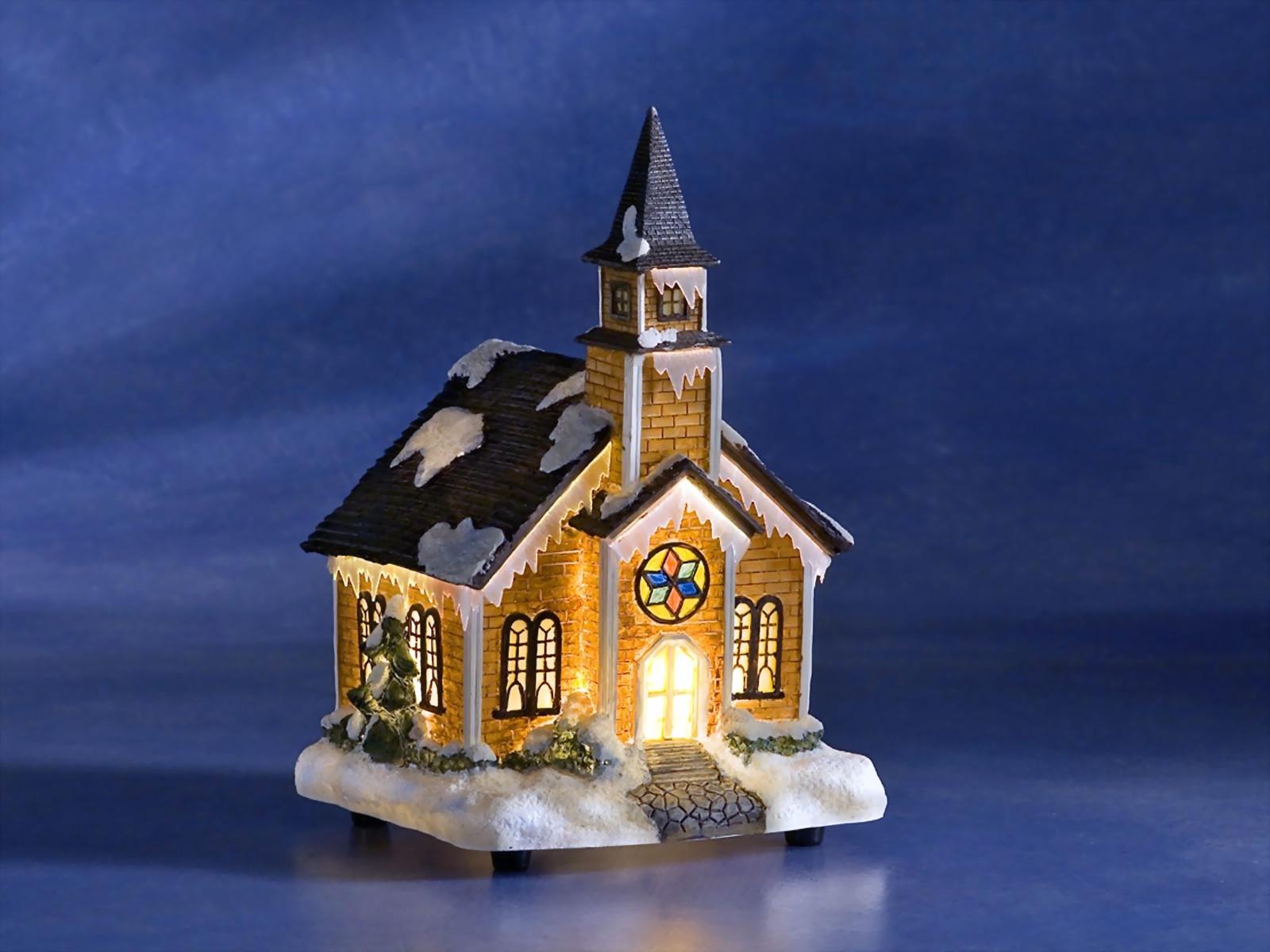 Weihnachtliche Fiberoptikkirche