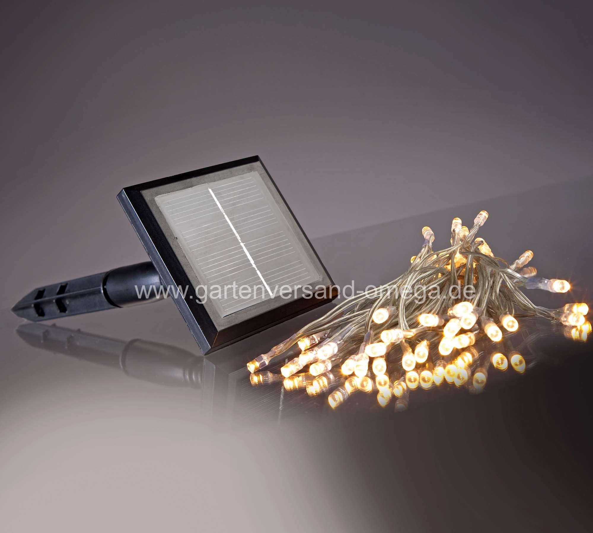 solarbetriebene led lichterkette warm wei solar solar weihnachtsgartenbeleuchtung. Black Bedroom Furniture Sets. Home Design Ideas