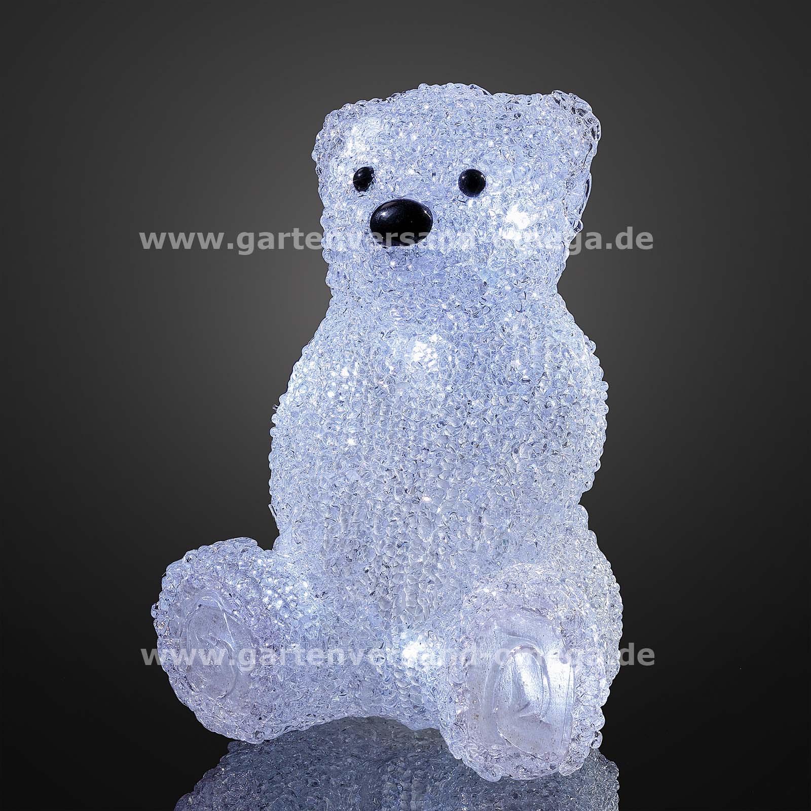 Led acryl eisb r sitzend tischdekoration schnurlose for Led weihnachtsbeleuchtung kabellos