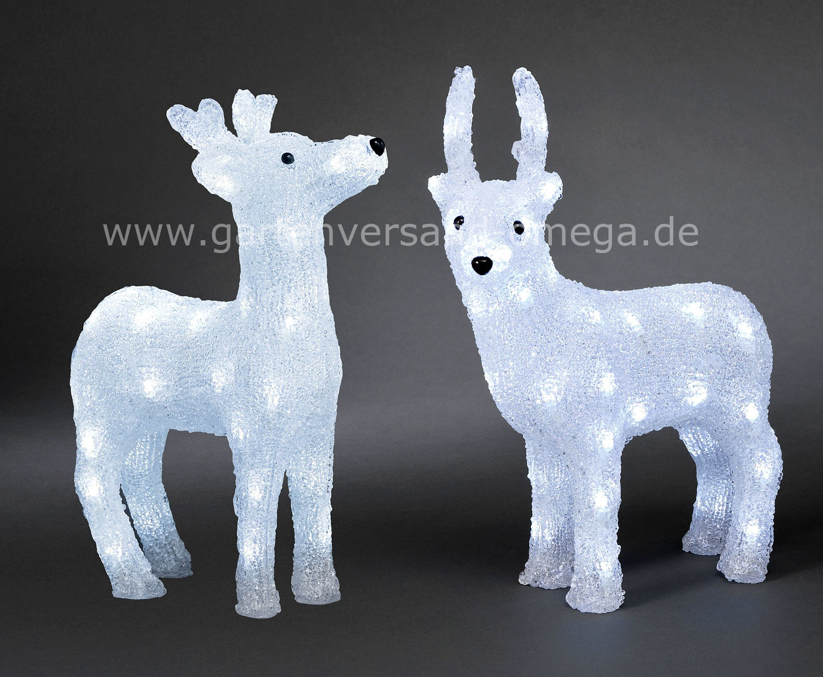 Led acryl rentier gro led tierfigur led rentier led for Weihnachtsbeleuchtung figuren