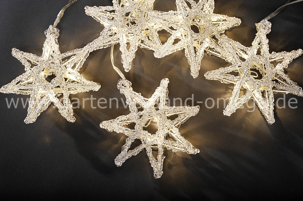 Led acryl lichtervorhang sterne lichterkette f r das for Lichtervorhang weihnachten