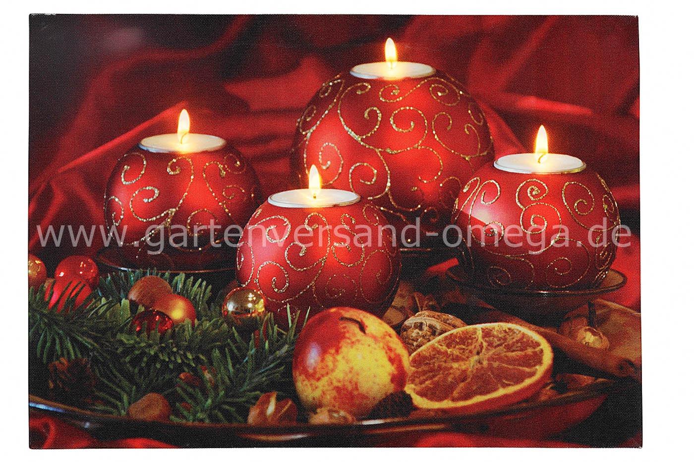 led bild motiv weihnachtskerzen weihnachtsbeleuchtung weihnachtstrend led dekoration led. Black Bedroom Furniture Sets. Home Design Ideas
