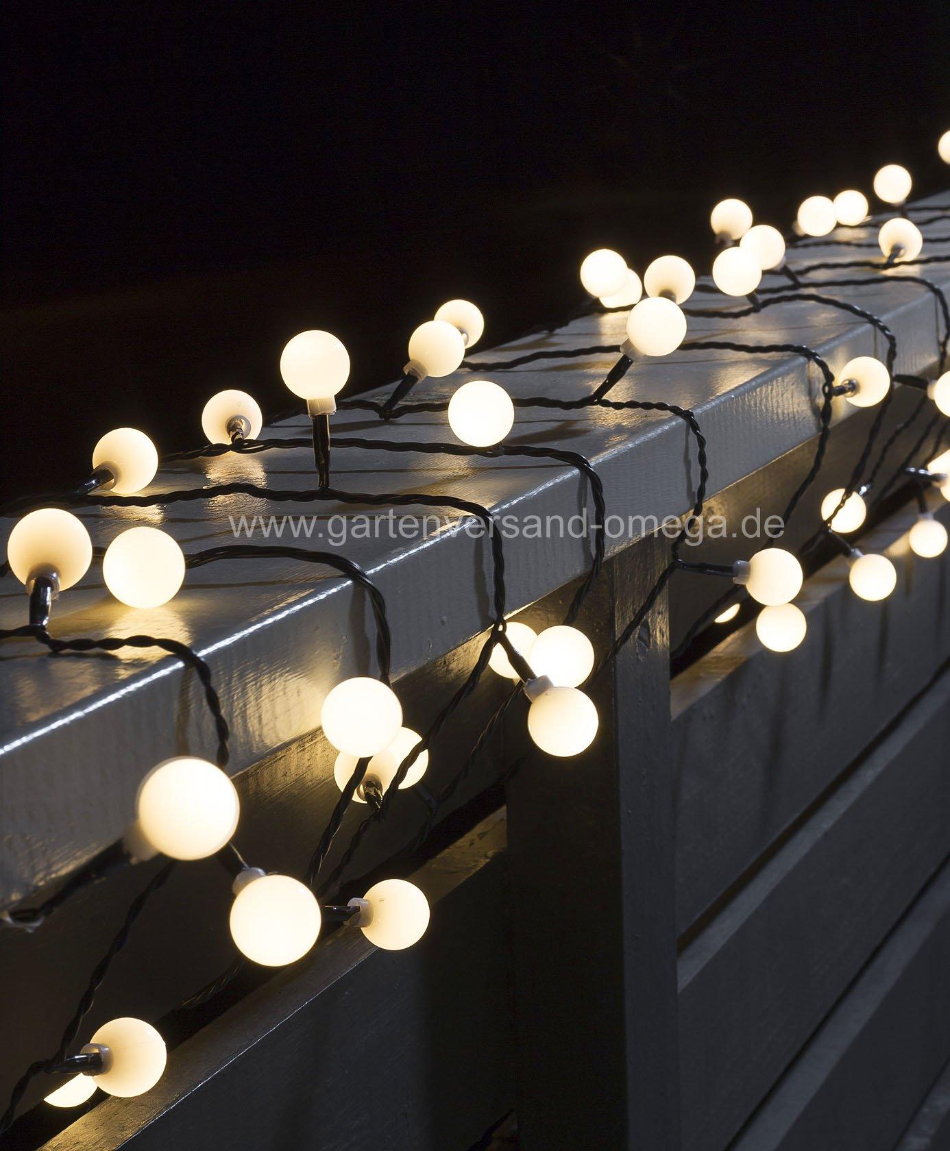 led globelichterkette warm wei lichterkette f r aussen. Black Bedroom Furniture Sets. Home Design Ideas