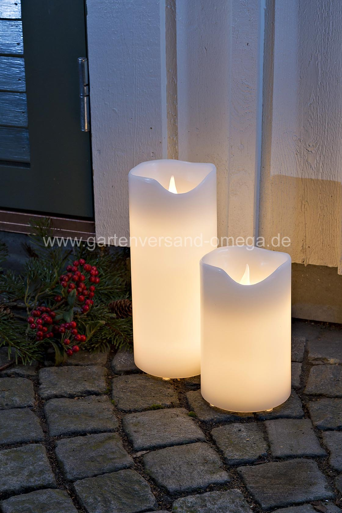 led echtwachskerze gro adventskerzen adventsau enbeleuchtung wachskerzen f r au en. Black Bedroom Furniture Sets. Home Design Ideas