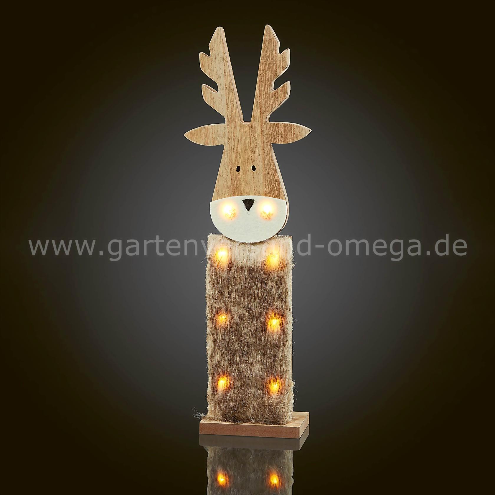 led holzrentier batteriebetriebene weihnachtsbeleuchtung beleuchtetes holzrentier. Black Bedroom Furniture Sets. Home Design Ideas