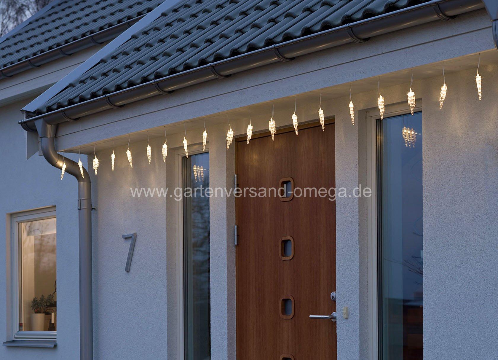 led eiszapfen lichtervorhang lichtdekoration f r au en. Black Bedroom Furniture Sets. Home Design Ideas