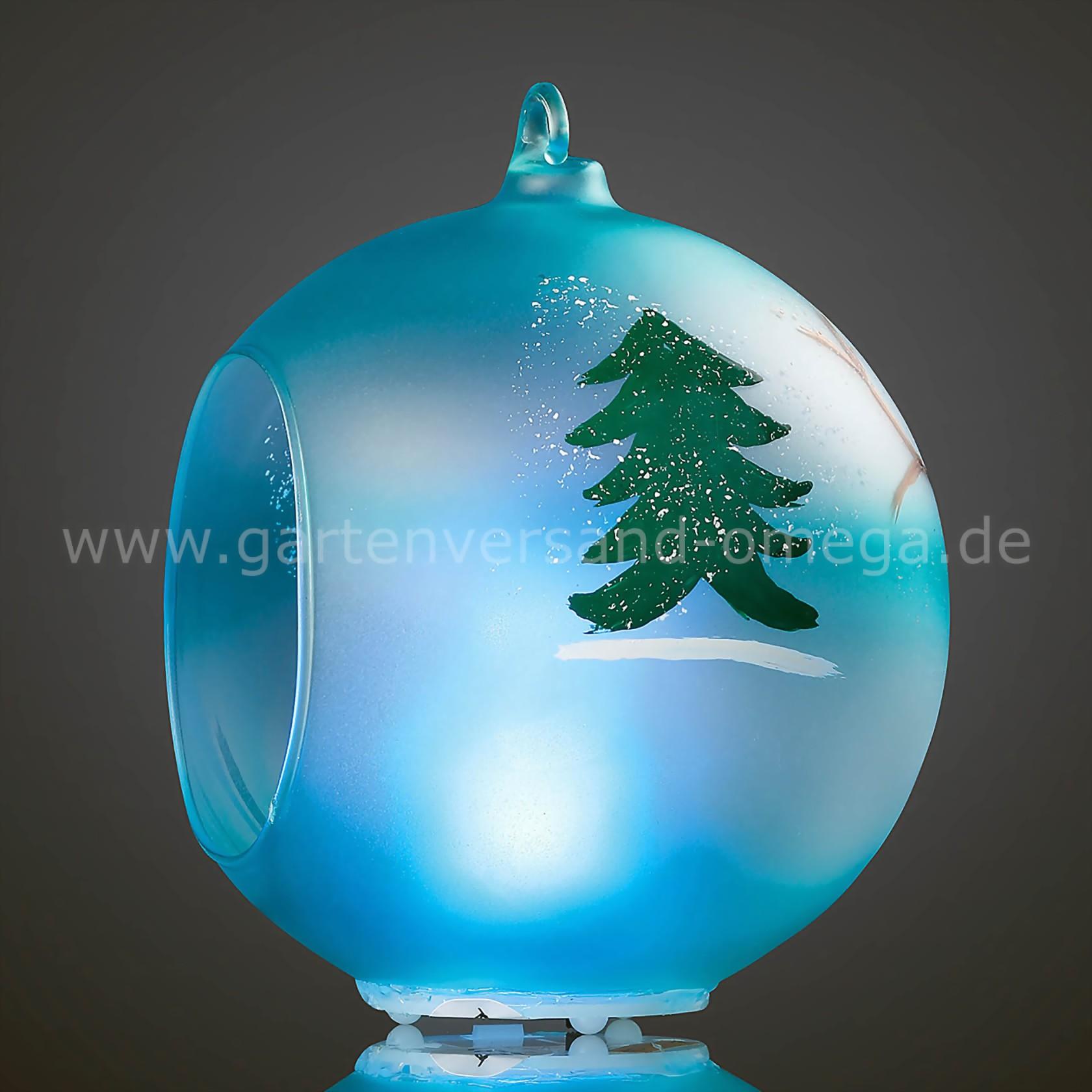 led glaskugel mit engel weihnachtsdeko christbaum led. Black Bedroom Furniture Sets. Home Design Ideas