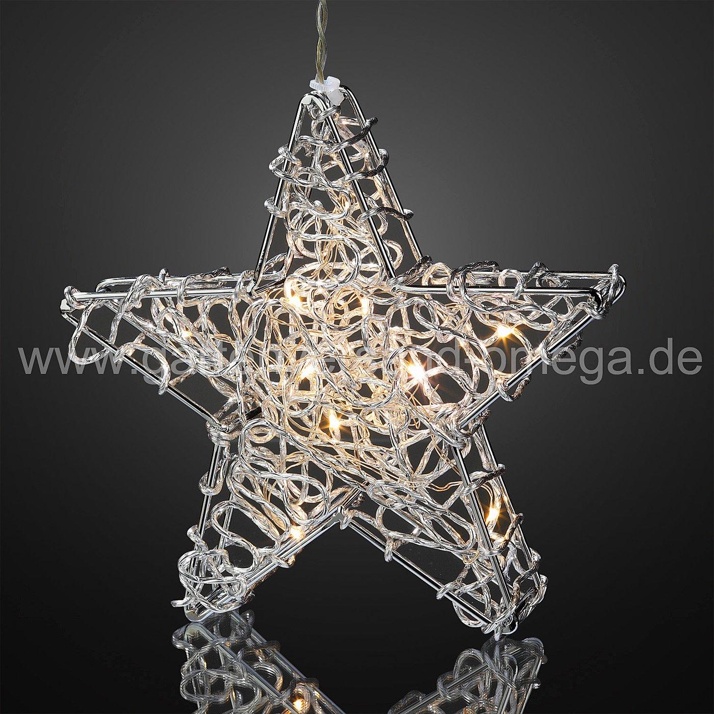 silberner led stern drahtstern beleuchtete weihnachtsdekoration weihnachtsinnenbeleuchtung. Black Bedroom Furniture Sets. Home Design Ideas