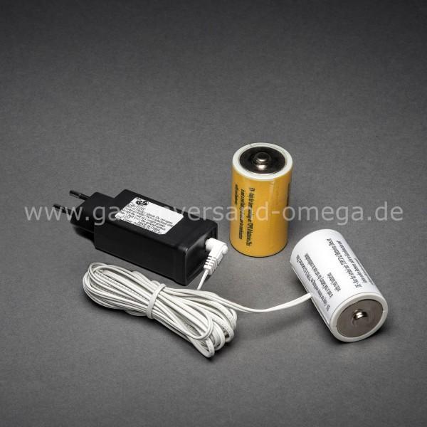 Netzadapter für Batterieartikel 2x Typ D Mono