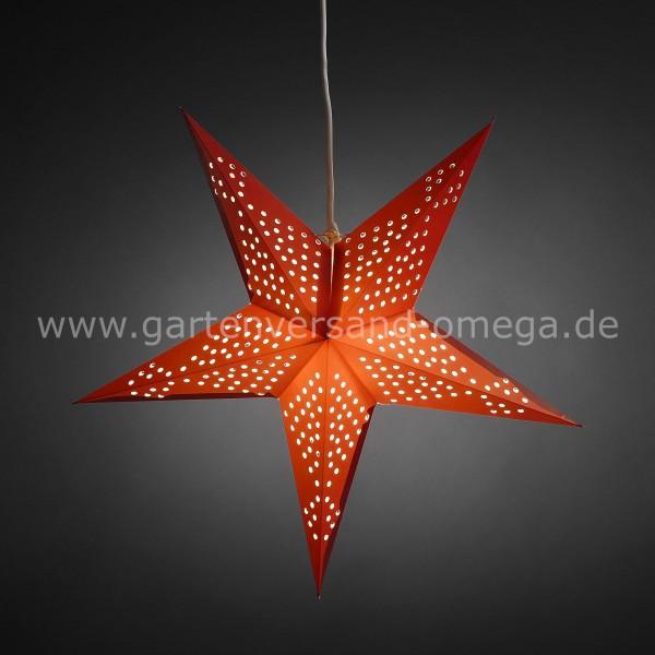 beleuchteter papierstern rot deko weihnachtsstern. Black Bedroom Furniture Sets. Home Design Ideas