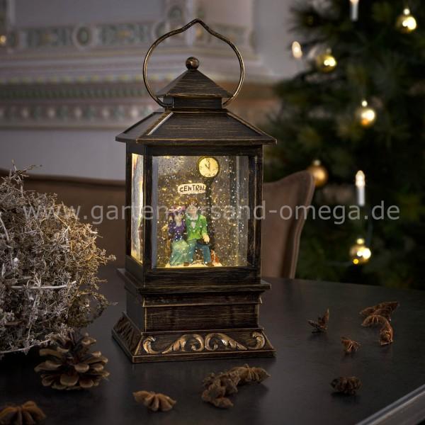 LED Schneelaterne mit Pärchen