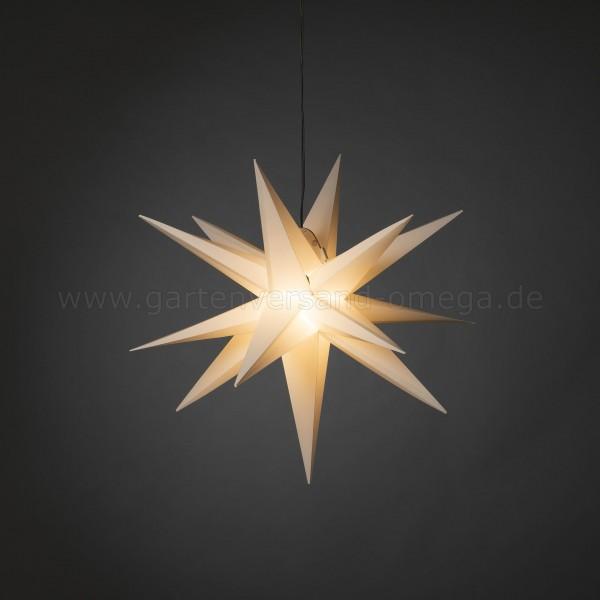 3D LED-Kunststoffstern Weiß