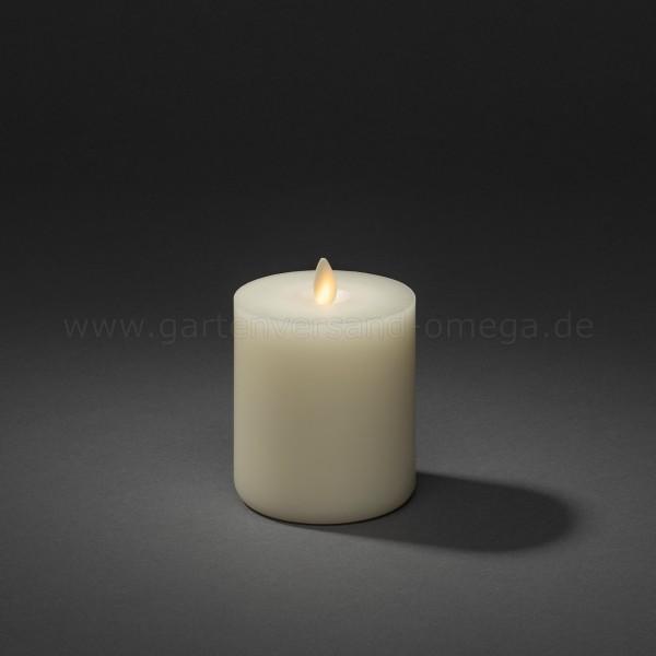 LED-Echtwachskerze cremeweiß mit Duft und Touchfunktion 10,1cm
