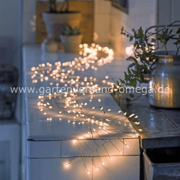 Anwendungsbeispel Micro LED-Lichterkette Firecracker Bernsteinfarben - Drahtfarbe Silber
