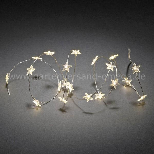 LED Dekolichterkette Sterne