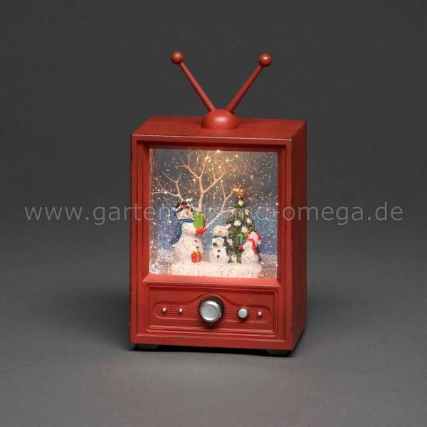 LED-Weihnachtsdekoration Fernseher mit Schneemännern