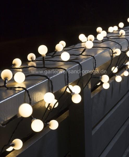 LED Globelichterkette Warm-Weiß