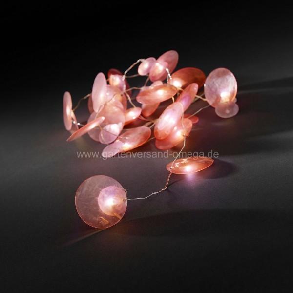 LED-Dekolichterkette mit Perlmuttblättchen