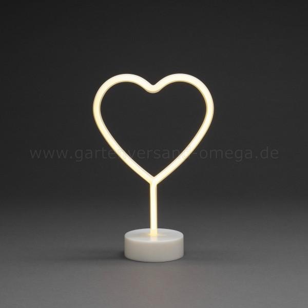 LED-Dekoration Schlauchsilhouette Herz