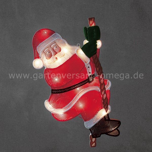 Papiersterne Weihnachtsbeleuchtung.Led Fensterbild Kletternder Weihnachtsmann