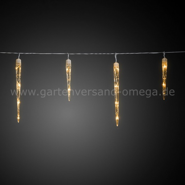 LED Eiszapfen-Lichtervorhang Bernsteinfarben
