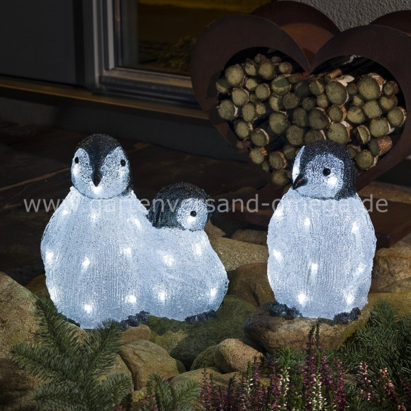 LED Acryl-Pinguinfamilie