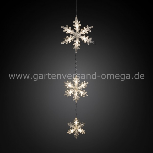 LED-Schneeflockenvorhang Warm-Weiß