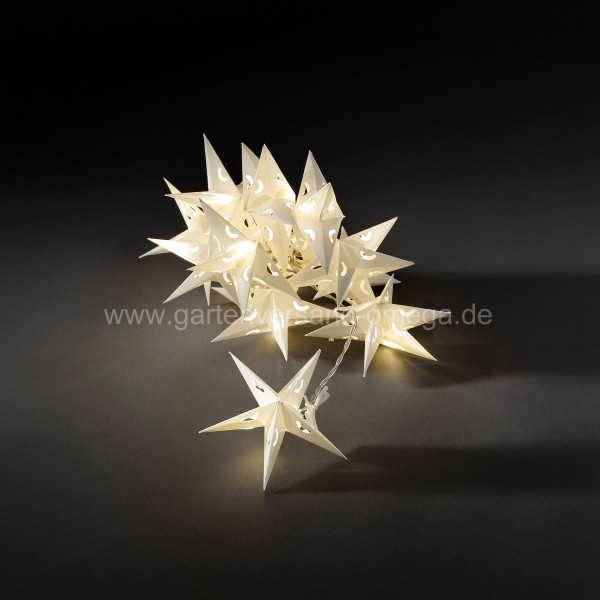 LED-Dekolichterkette mit Papiersternen