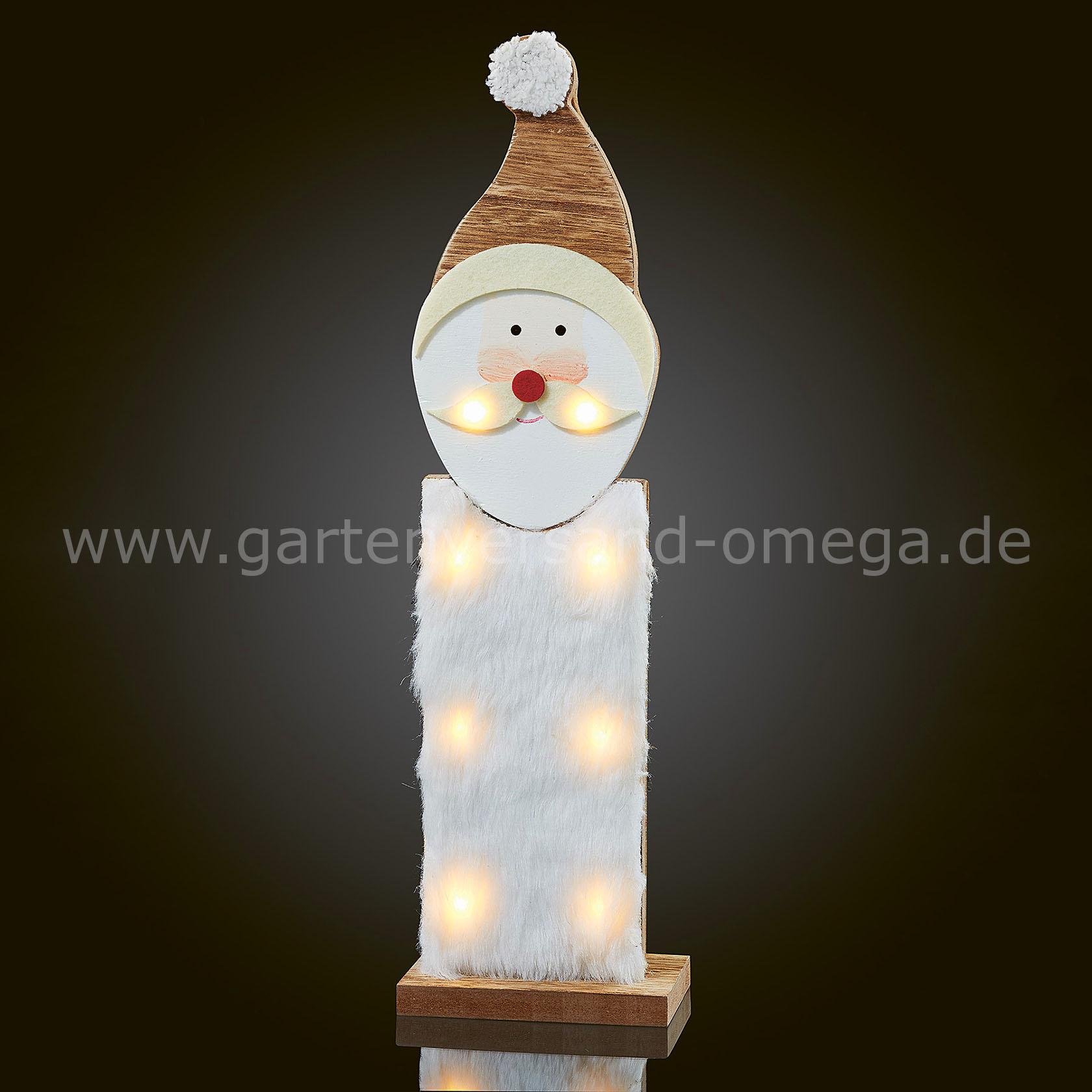 Led holzweihnachtsmann weihnachtsbeleuchtung aus holz weihnachtsdekoration - Fensterbeleuchtung innen ...