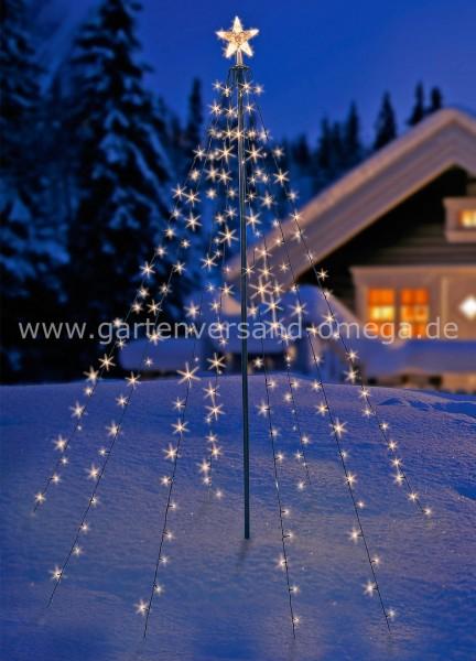 LED Tannenbaum-Simulation mit leuchtendem Stern