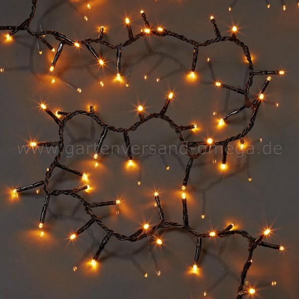 LED App-Clusterlichterkette - Bernsteinfarben