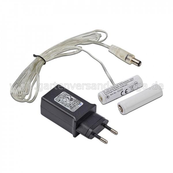 Netzteil-Batterieadapter für AA Mignon-Batterien - für 2x AA Mignon