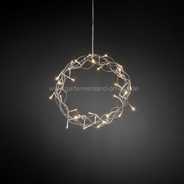 LED-Metallsilhouette Kranz Silber
