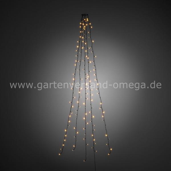 LED Baummantel-Lichterkette Bernsteinfarben