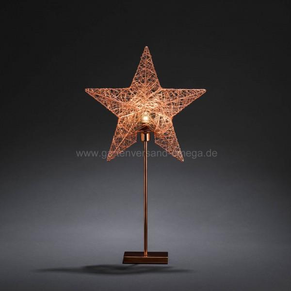 Kupferfarbener Metallleuchter Motiv Stern