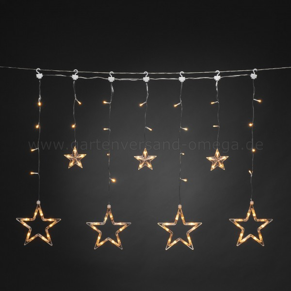LED-Lichtervorhang kleine und große Sterne