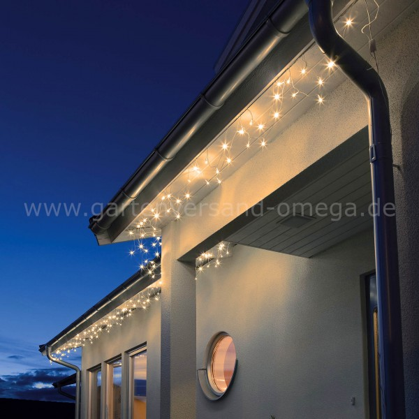 LED-Dachrinnenlichterkette Bernsteinfarben