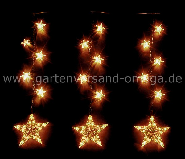 Sternenkette für Innen und Außen
