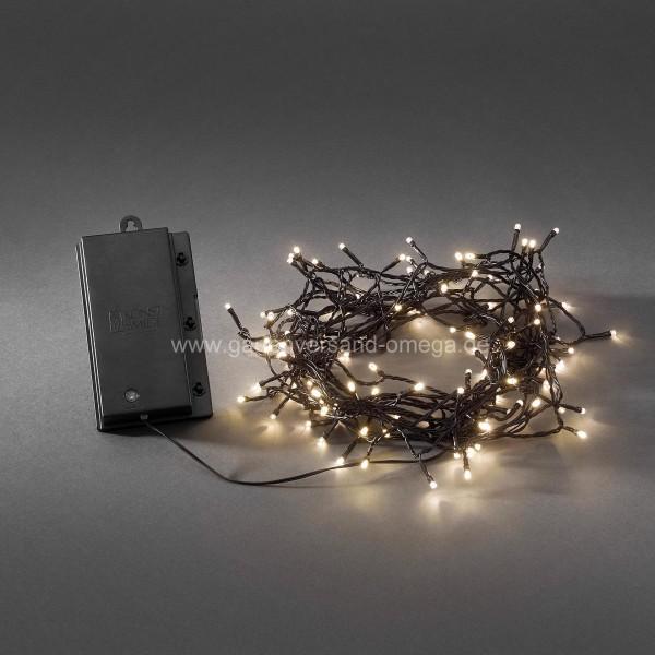 Batteriebetriebene LED Lichterkette für Aussen Warm-Weiß