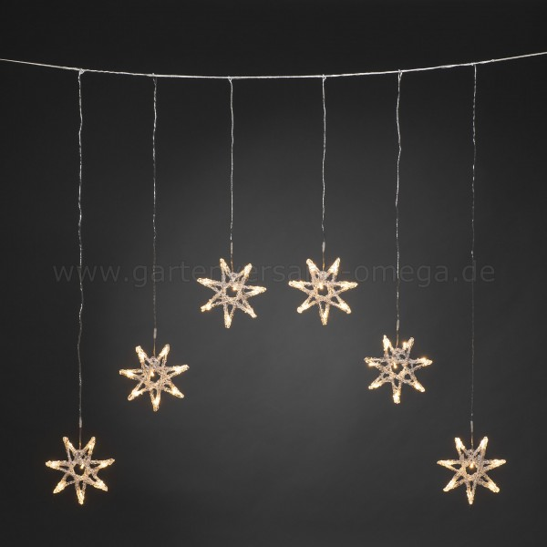 LED Lichtervorhang für Außen mit Sternen
