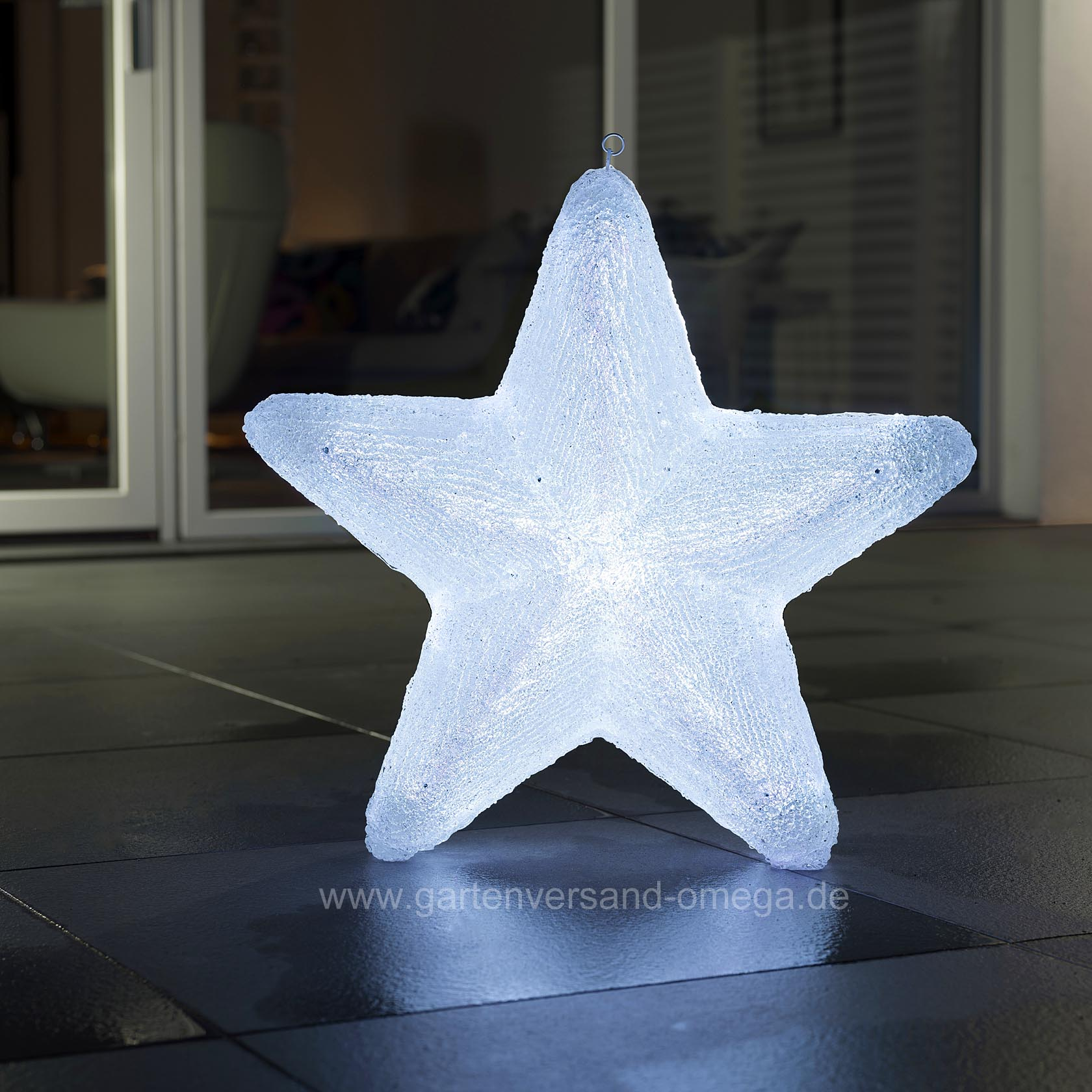 led acryl stern mit farbfunktionen 60cm weihnachtsbeleuchtung f r den garten bunte. Black Bedroom Furniture Sets. Home Design Ideas