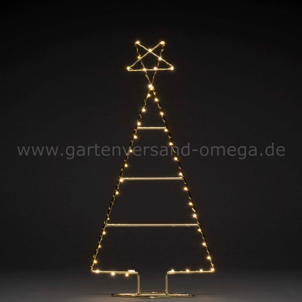 LED-Metallweihnachtsbaum Messingfarben