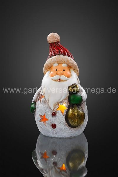 LED-Keramik-Weihnachtsmann mit Sack
