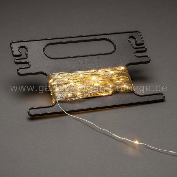 LED Tropfenlichterkette mit Aufroller Bernsteinfarben