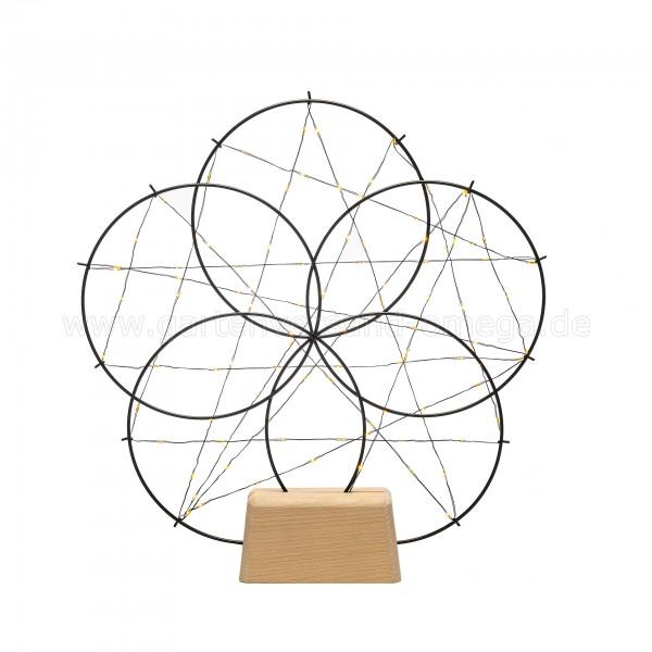 LED-Metallsilhouette 5 kleine Ringe