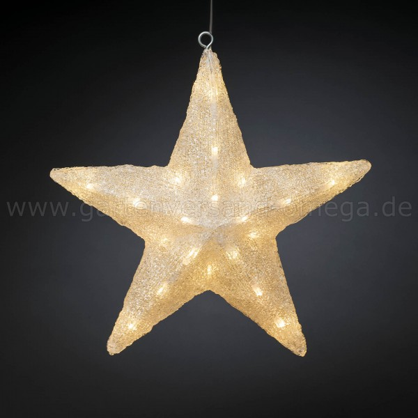 LED Acryl-Stern - Weihnachtsdekoration für Außen