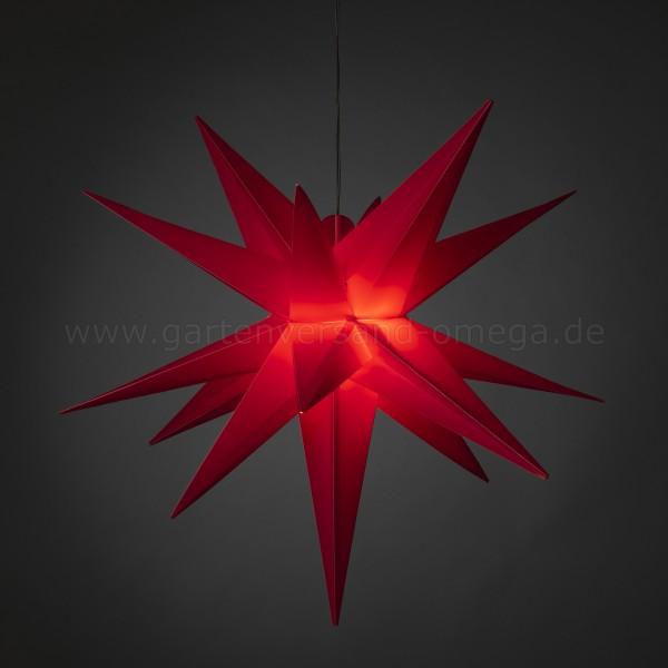 3D LED-Kunststoffstern Groß Rot