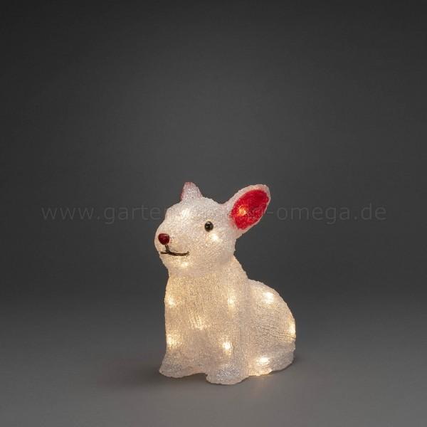 Batteriebetriebene LED-Acrylfigur Kaninchen